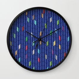 Blue Metalic Wall Clock