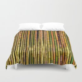 Bamboo fence, texture Duvet Cover