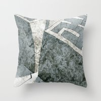 labyrinth Throw Pillows featuring LABYRINTH by Daniele Vittadello