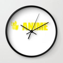 Anime Fan Eat Sleep Anime Repeat Anime Lover Wall Clock