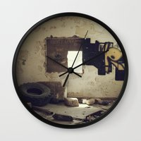 misfits Wall Clocks featuring Misfits by nonbeliever_