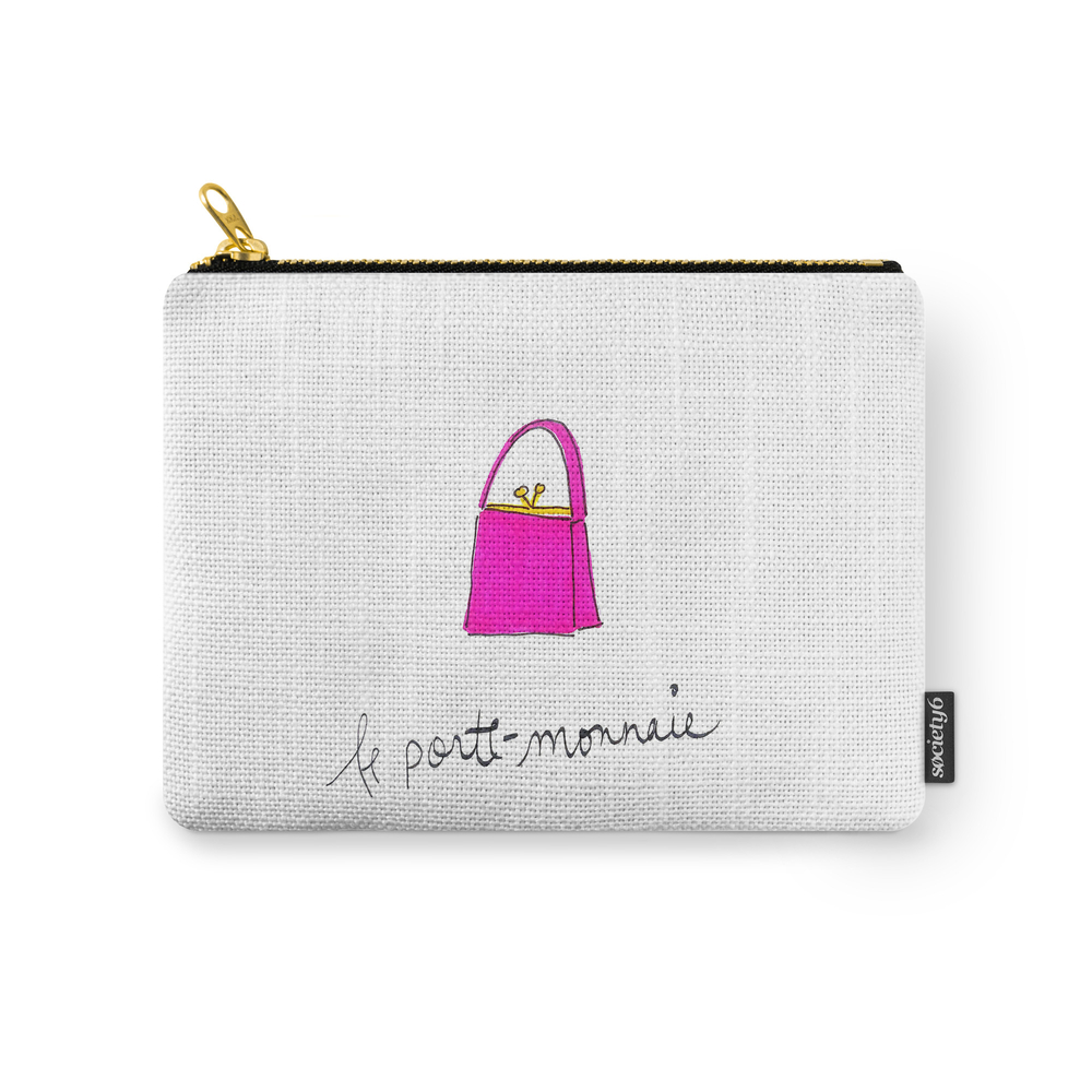Pink Purse Carry-All Pouch by rhiannaclaire (CAP8511390) photo