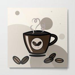 Espresso coffee mug Metal Print