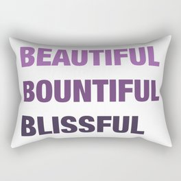 Daily mantra in purple Rectangular Pillow