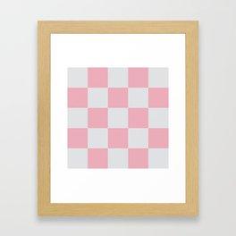 Genuine Girly Checker Lampades Framed Art Print