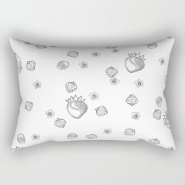 Strawberry Blossom Rectangular Pillow