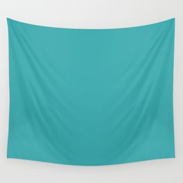 Aqua / Teal / Turquoise Solid Color Pairs with Sherwin Williams 2020 Trending Color Aquarium SW6767 Wall Tapestry