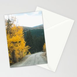 Yellow Leaf Road - Colorado Aspen Stationery Cards