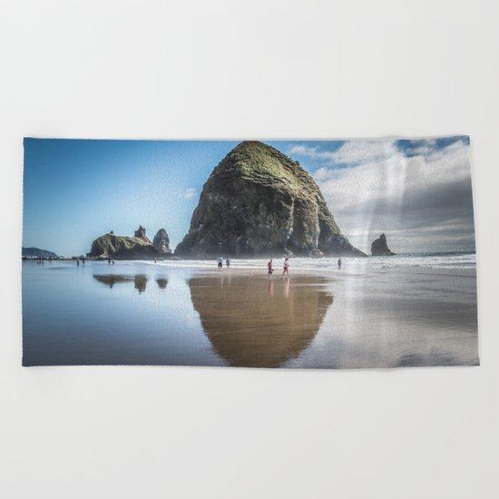 Haystack Rock Beach Towel