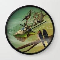 dreamcatcher Wall Clocks featuring DREAMCATCHER by ANVIK