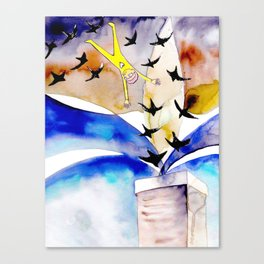 Diving with Chimney Swifts Canvas Print