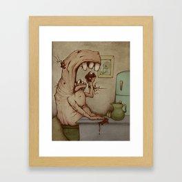 Eating Sores Framed Art Print