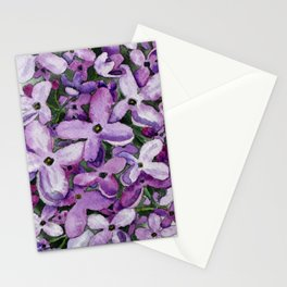 Watercolour Lilac Bloom Stationery Cards