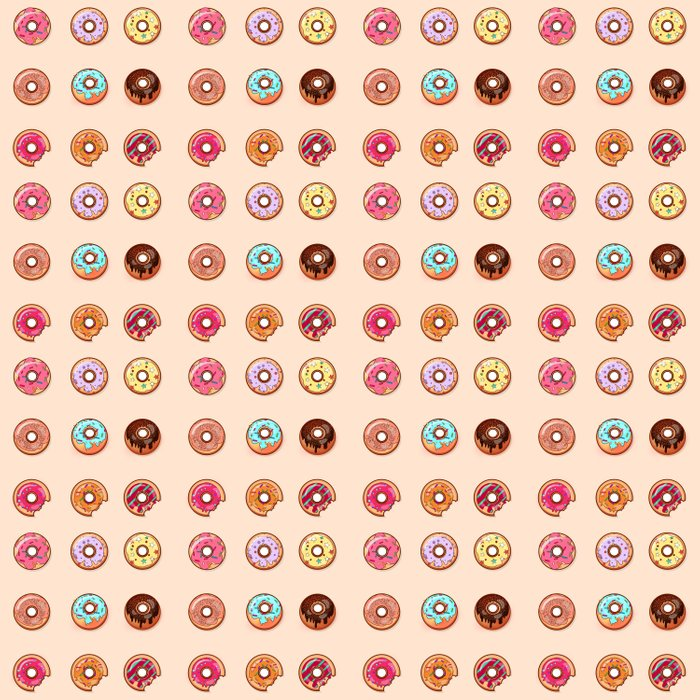Is their such a thing as too many donuts? Duvet Cover