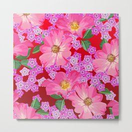 tossed flower garden Metal Print