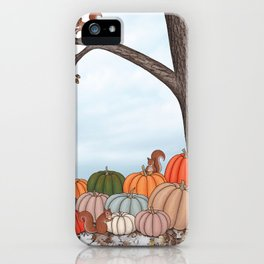 heirloom pumpkins, squirrels, & the oak tree iPhone Case