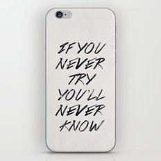 If you never try (White) iPhone & iPod Skin