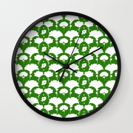 green silhouette garden Wall Clock