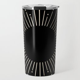 Sunburst White Gold Sands on Black Travel Mug