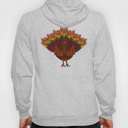 Thanksgiving Turkey Featuring Leaf Feathers Hoody