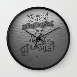 Lido words of wisdom Wall Clock