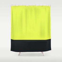 lime yellow and black grey Shower Curtain