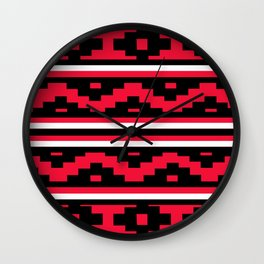 Etnico red version Wall Clock