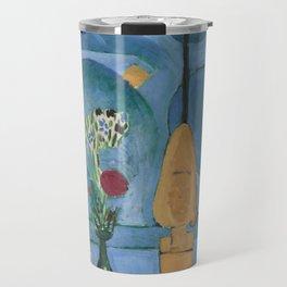The Blue Window, Issy-les-Moulineaux, 1913 by Henri Matisse, Artwork Design, Poster Tshirt, Tee, Jer Travel Mug