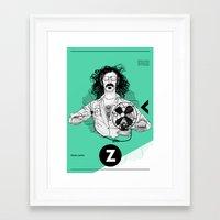 zappa Framed Art Prints featuring Zappa by Franko Schiermeyer