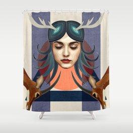 Antelope Girl Shower Curtain