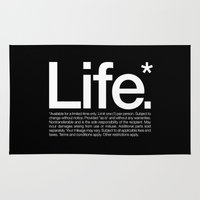 crane Area & Throw Rugs featuring Life.* Available for a limited time only. by WORDS BRAND™