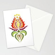 Fancy Mantle on White Stationery Cards