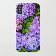 Hydrangea iPhone X Slim Case