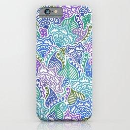 Blue and Purple Garden iPhone Case