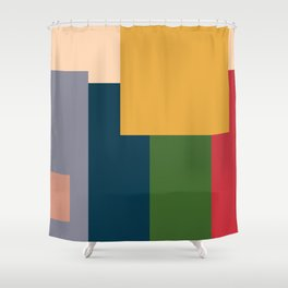 Me and the Boys In abstract style Shower Curtain