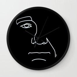 Bill- Black and White Wall Clock