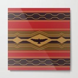 American Native Pattern No. 105 Metal Print