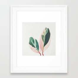 Pink Leaves I Framed Art Print