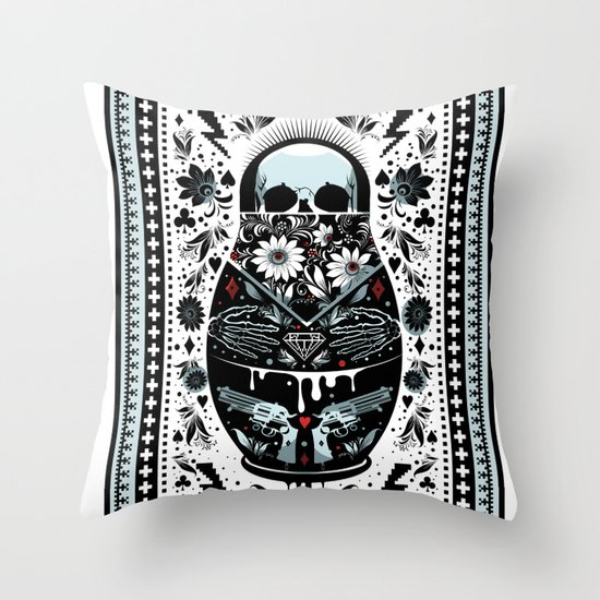 Russian Doll Throw Pillow