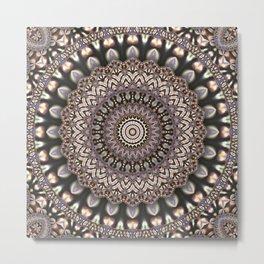 3D Mandala in Sophisticated Earth Colors #society6 #buyart Metal Print