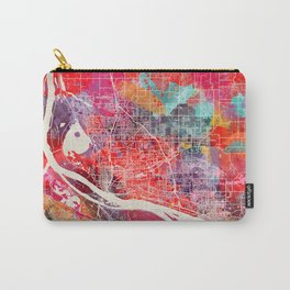 Vancouver map Washington painting 2 Carry-All Pouch