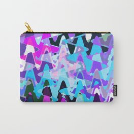 Electric waves, technological abstraction in rich colors, music waves in violet Carry-All Pouch