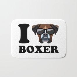 I Love Boxer modern v1 Bath Mat
