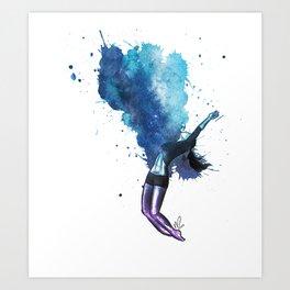 dancing colors 01 // breaking my heart wide open Art Print