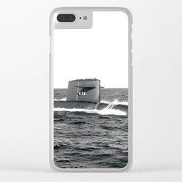 USS NATHANAEL GREENE (SSBN-636) Clear iPhone Case