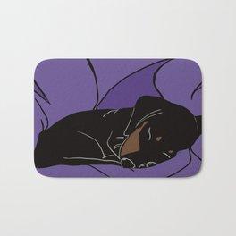 Sleeping Dachshund Puppy Bath Mat