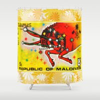 taurus Shower Curtains featuring Taurus by lanjee