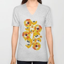 Water Flowers Unisex V-Neck