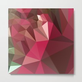 Jazzberry Jam Purple Abstract Low Polygon Background Metal Print