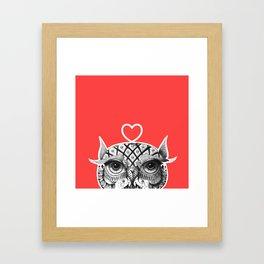 Owl R Framed Art Print